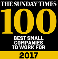 The Sunday Times 100 Best Small Companies to Work For 2017 logo