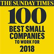 Sunday Times Best Companies logo 2018