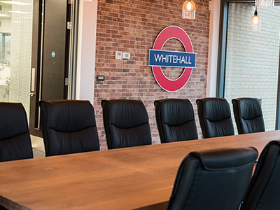 boardroom, whitehall sign