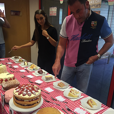 bake off, cakes, table,