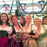 Beer festival group of women