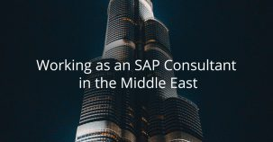 Working as an SAP consultant in the Middle East