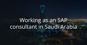 Working as an SAP consultant in Saudi Arabia