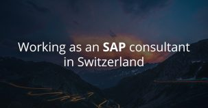 Working as an SAP consultant in Switzerland