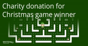 Charity donation for our Christmas game winner!